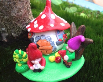 House of goblins in polymer clay