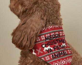 Holiday Dog Bandana - Ugly Sweater