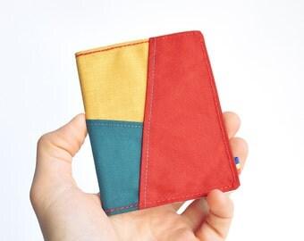 Patches vegan wallet, Bifold wallet, Minimalist wallet, Womens vegan wallet, Slim bifold wallet, Wallet for women, Slim vegan wallet