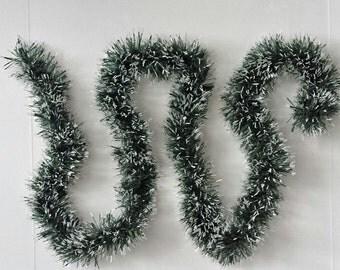 Snow Tipped Pine Garland - Green - Pine Garland - Christmas