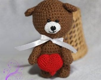 Teddy bear crochet amigurumi teddy stuffed animal rag bear stuffed bear plush bear crochet bear baby shower gift  soft toy