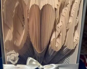 Initials folded book art