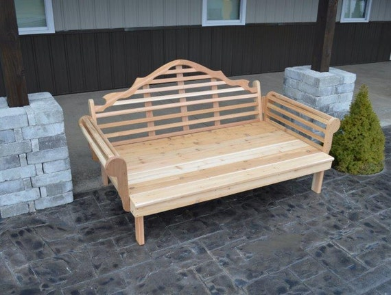 Daybeds Made In The Usa : Cedar foot royal english daybed unfinished handmade