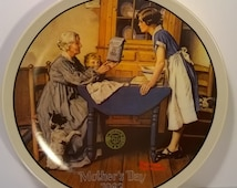 Vintage Norman Rockwell Mother's Day 1983 Wall Plate