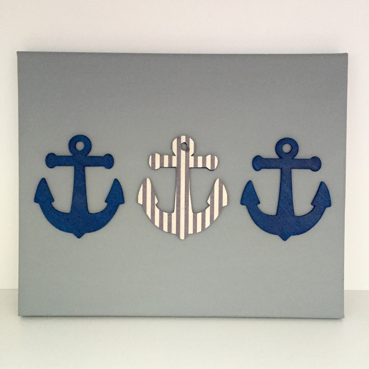 Nautical nursery art anchor artwork navy nautical art for Anchor decoration runescape