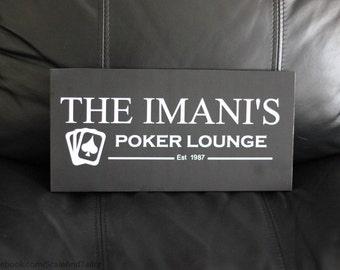 Poker Lounge Sign.  Poker Sign.  Poker Room Sign.  Groomsmen Gifts.  Unique Groomsmen Gifts.  Casino Sign.  Man Cave Sign.