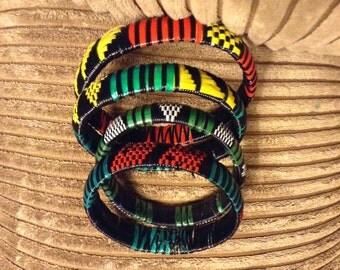 Handmade recycled beach mat bracelet