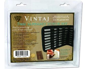 Metal Stamping Kit Metal Stamping Tools Alphabet Stamps Letter Stamps Uppercase Letter Stamps Vintaj 3mm Letter Stamps