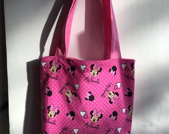 Minnie Mouse Dotted Totes with matching Wristlet