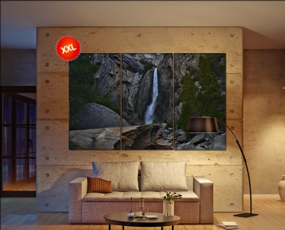 Yosemite waterfall  canvas Yosemite waterfall wall decoration Yosemite waterfall canvas art large canvas  wall decor