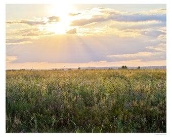 Landscape Photography - Fine Art Photography - Thistle Sunset - Wall Art -Original Art Print - Sunset