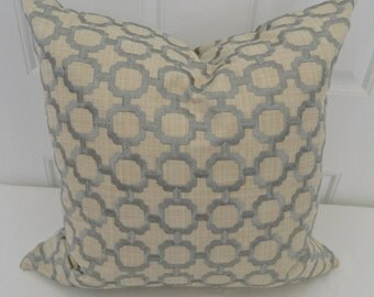 Shadow by Greenhouse- Decorative Pillow Covers with  Embroidered  Geometric Pattern Fabric /2  20 x 20 / Both Sides