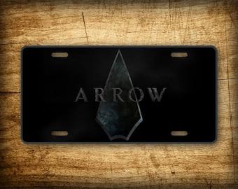 The Green Arrow Oliver Queen License Plate CW DC Comics Superhero Auto Tag 6x12 Aluminum Sign