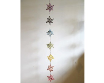 chakra merkaba / star dreamcatcher, sacred geometry