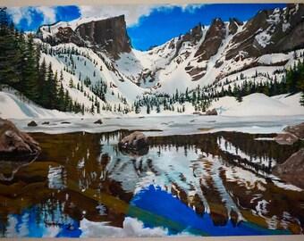 Dream Lake - Colorado - Original Acrylic