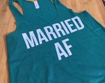 CLEARANCE - MARRIED AF Soft Comfy Racerback Tank Size Medium [143]