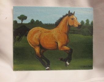 Original painting - Buckskin horse