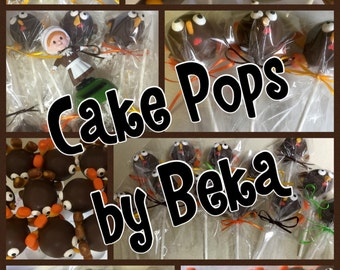 Thanksgiving Day Turkey Cake Pops Gobble