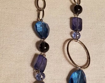 Denim Blue long necklace