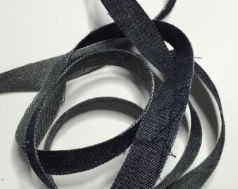 5/8 in  x  6 yd  Black Jeans Ribbon 003