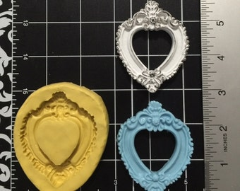 Victorian Heart Picture Frame Silicone Mold