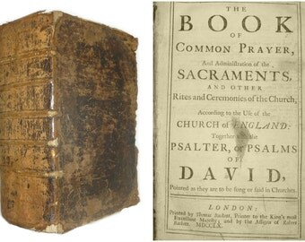 1760 The book of Common Prayer .... Psalms of David ... Church of England
