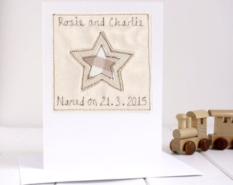 Naming Day Card - Personalised Dedication Card - Boy's Naming Day - Girl's Naming Day - Twin's Naming Day - Christening Card - Baptism Card