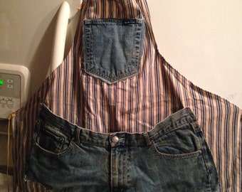 Upcycled Denim Jeans APRON.