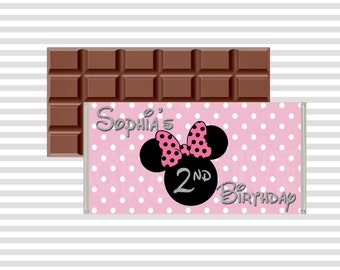 Minnie Mouse Chocolate Wrapper