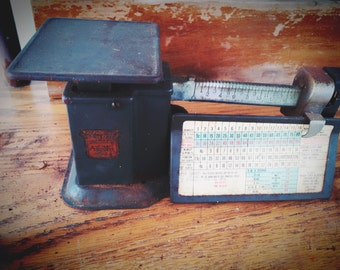 50's Triner Postage Scale Vintage Mail Scale Industrial Design