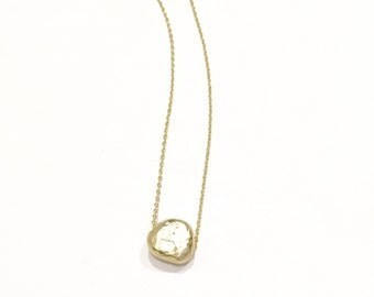 Long Gold Nugget Necklace, gold necklace, delicate gold necklace, layering necklace, long necklace