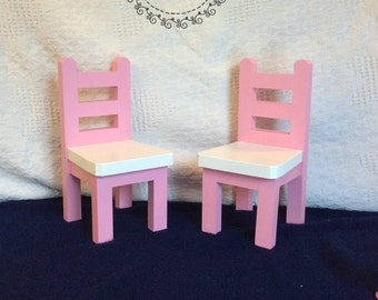 """Two 18"""" Doll Chairs - Painted"""