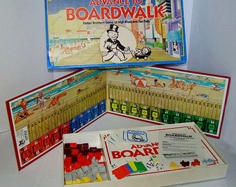 ADVANCE TO BOARDWALK • Board Game Of High Rises And Fast Falls • 100% Complete • 1985 Parker Brothers • Family Game Night