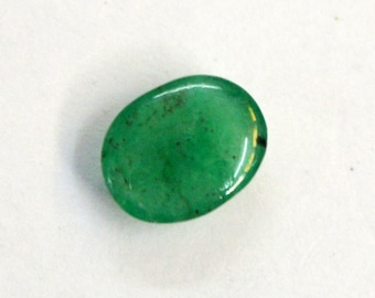 1.70 cts. 100% Natural Green Emerald  7X9 mm approx. cabochon for jewelery