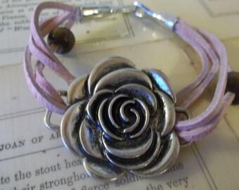 Rose Cord Bracelet