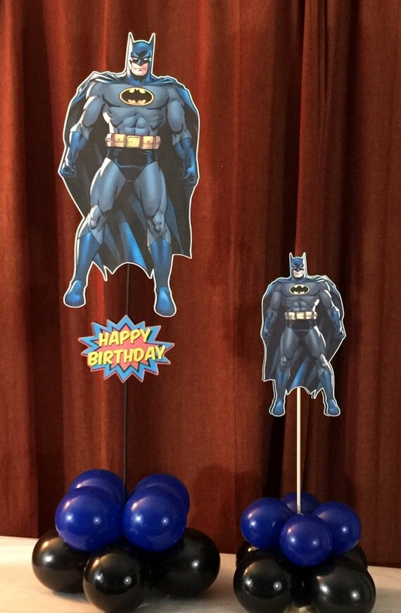 Quot and batman table centerpiece kit by party