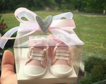 Handmade baby booties christening party favors