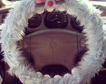 Fuzzy Monster Steering Wheel Cover