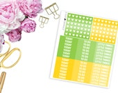 2016 August ECLP MDNs and Heart Checklists -- Matte Planner Stickers