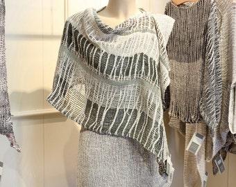 Linen women's clothing - shawl (14)