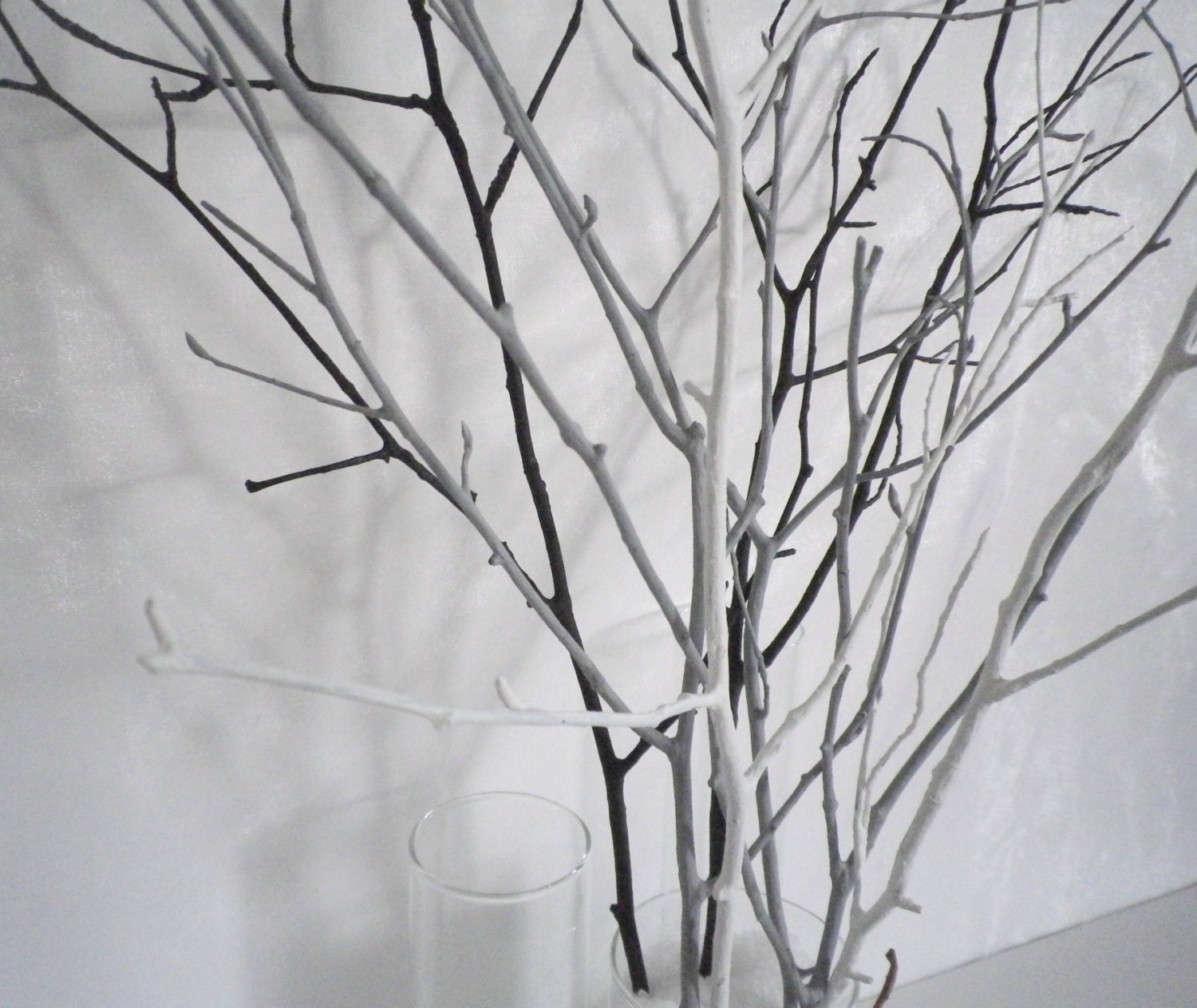 white decorative twigs and branches. Black Bedroom Furniture Sets. Home Design Ideas
