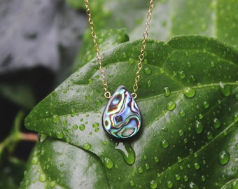 Simple Abalone Drop Necklace