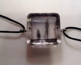The road ahead resin tree charm bracelet handmade