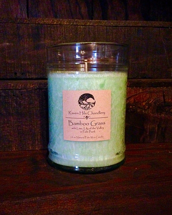 Bamboo spa scented candles 18 oz glass by ravenhilschandlery for Spa smelling candles