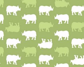 Baby Chic Rhino Fabric - Green - sold by the 1/2 yard