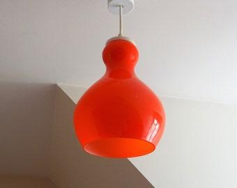 Suspension seventies opaline orange-lamp ceiling Design 1970 - light orange/illuminati10