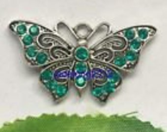 Green & Blue Butterfly Pendant