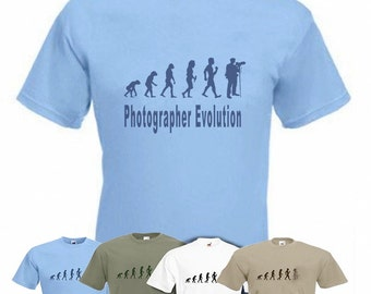 Evolution To Photographer t-shirt Funny Photography T-shirt sizes Sm TO 2XXL