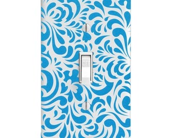 Light Switch Cover - Turquoise Swirl