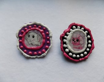 Fairy Kei Squinkies Sticker Melted Bead Pins